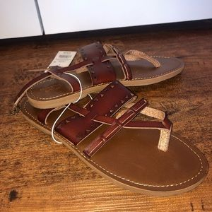 Women's Brown Sonora Toe Thong Sandals